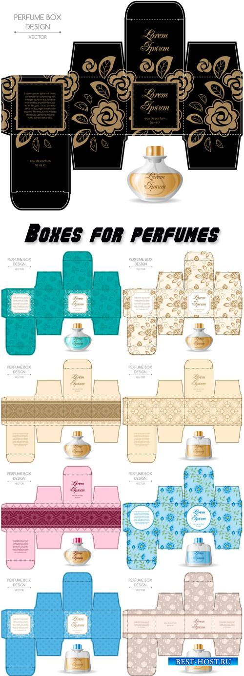 Design boxes for perfumes