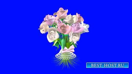 Футаж на хромакее - Вращающийся букет цветов