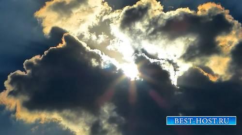 Футаж - Солнце за тучами