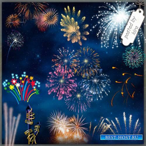 Клипарт праздничный - Салюты и фейерверки