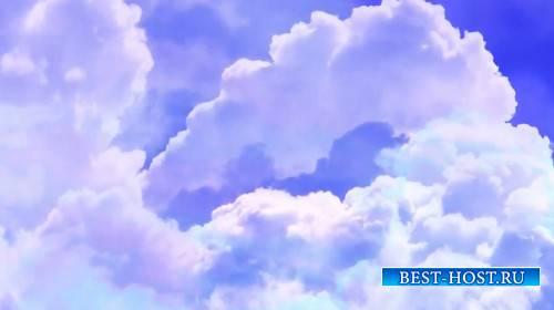 Футаж - Облака на синем небе