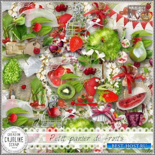 Летний скрап-набор - Маленькая корзинка фруктов