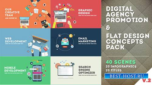 Digital Agency Promotion - Flat Design Concepts - Project for After Effects ...