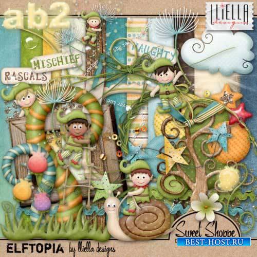 Детский сказочный скрап-набор - Elftopia