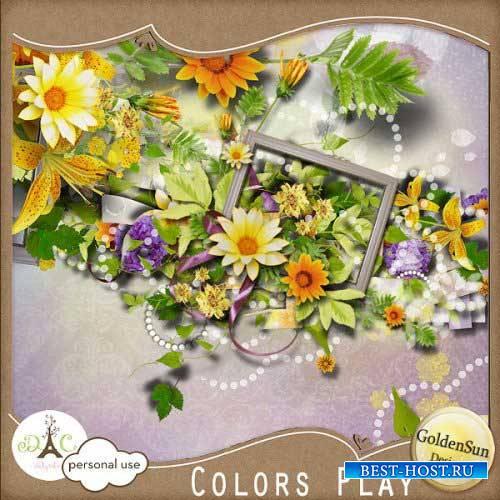 Цветочный скрап-набор - Игра цвета