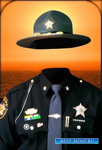 Шаблон для photoshop - Местный шериф