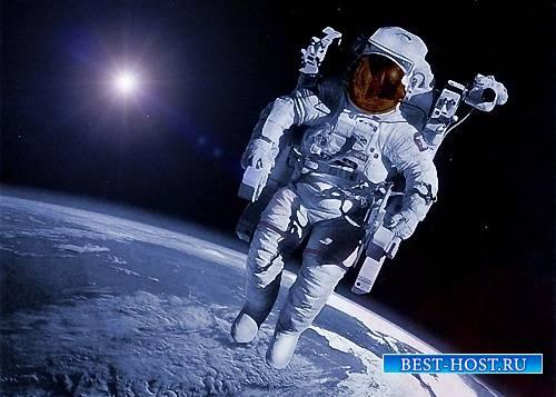Шаблон для фото - Над нашей планетой