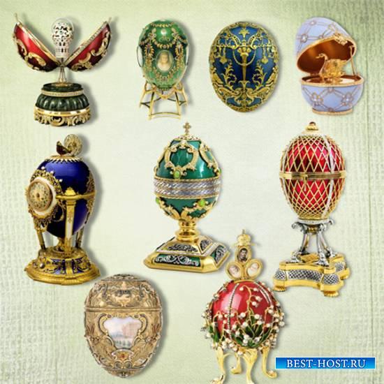 Клипарт – Пасхальные яйца Фаберже