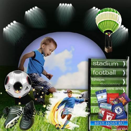 Рамка для фото - Маленький футболист