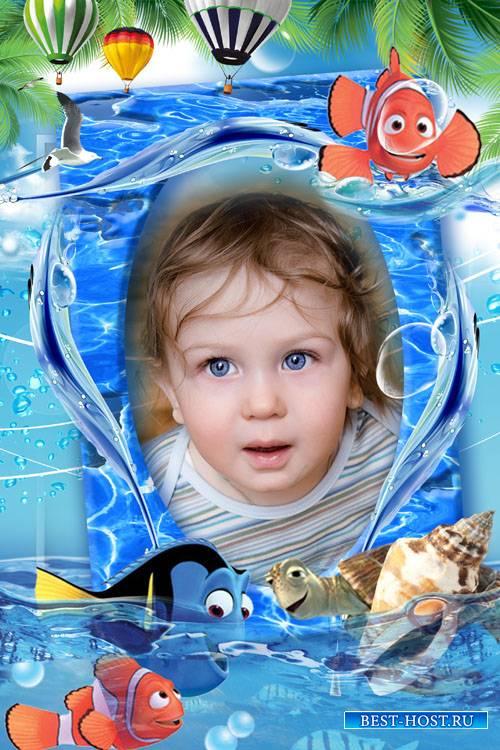 Фоторамка - Морские приключения с Немо