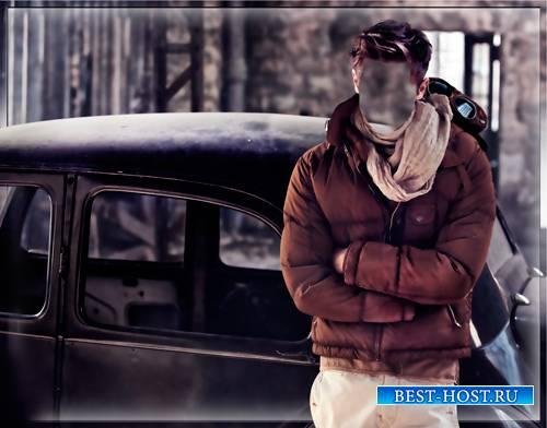 Костюм для фотошопа - Парень и старинная машина