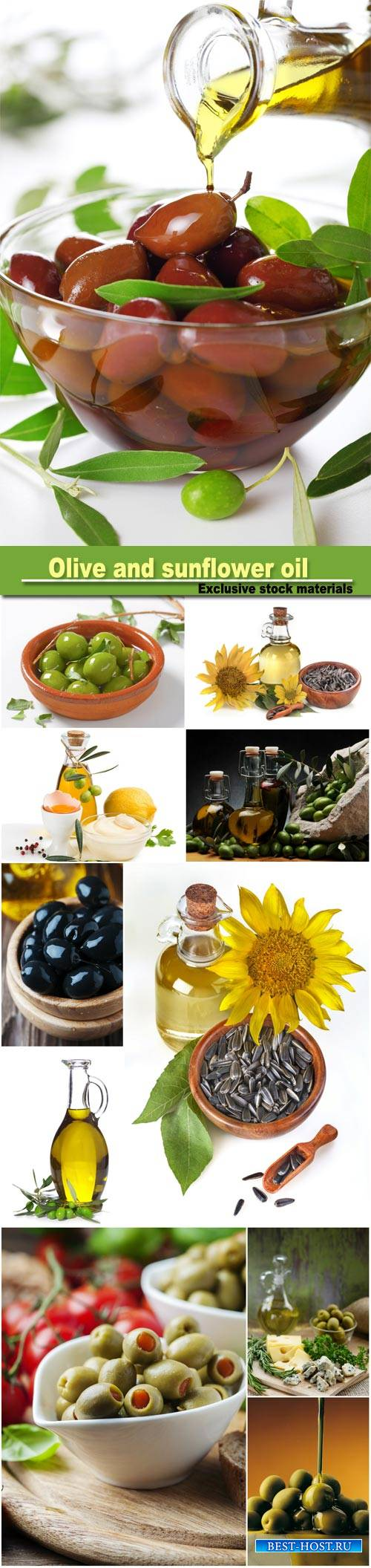 Olive and sunflower oil