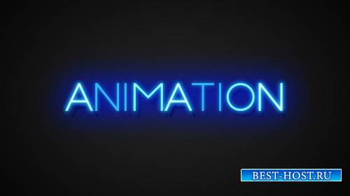 Неонвые Текстовые эффекты Инструментарий - 3D Animated Цвет свечение Текст  ...