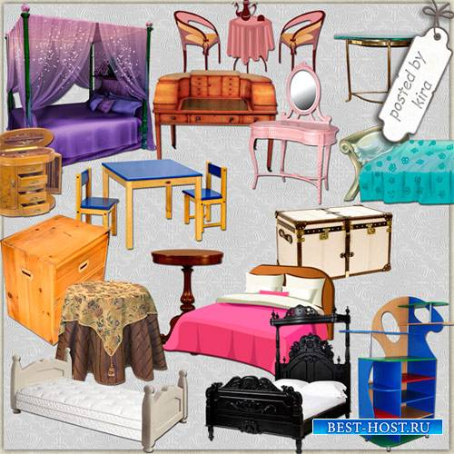 Клипарт - Столы, шкафы, кровати
