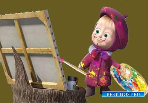 Детские футажи - Машенька рисует