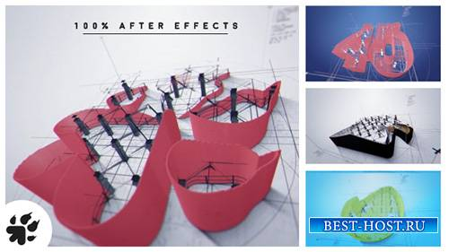 Логотип архитектор раскрыть В2 - Project for After Effects (Videohive)