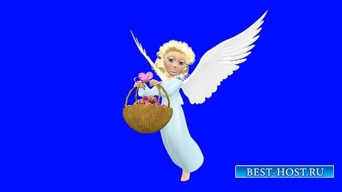 Футаж с ангелом на хромакее
