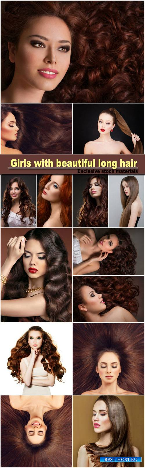 Girls with beautiful long hair, fashionable hairstyles