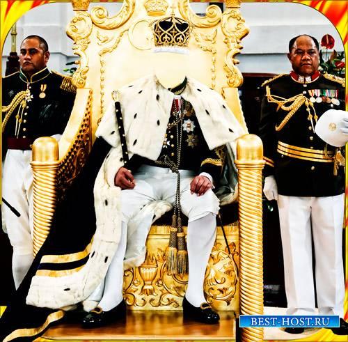 Фотомонтаж - Шаблон для photoshop - Король Зимбабве