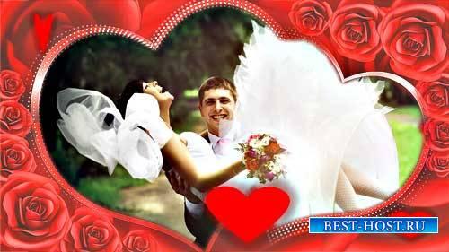 Свадебные футажи - Рамка из роз
