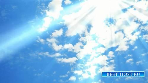 Фоновый футаж - Небо в лучах солнца