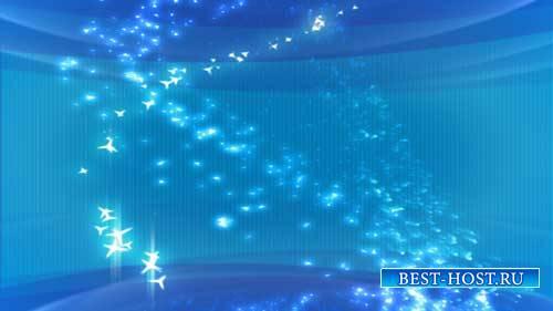 Футаж фона - Красивый голубой фон