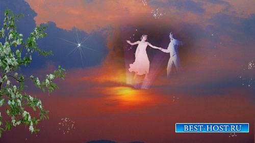 Футаж фона - Танец любви
