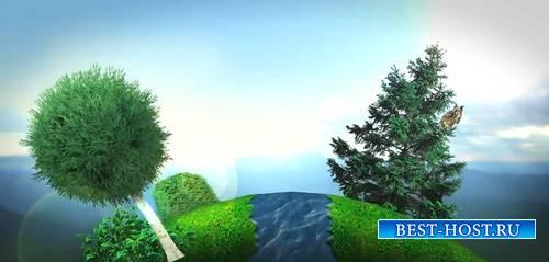 Видео футаж - Крутится земной шар