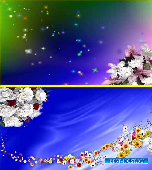 Футаж фона - Цветы как будто оживают