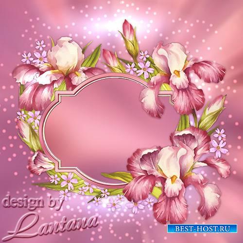 PSD исходник - Ирисов лёгкие цветы, как дым давно забытых снов