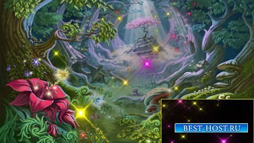 Футажи эффекты - Полет разноцветных звездочек