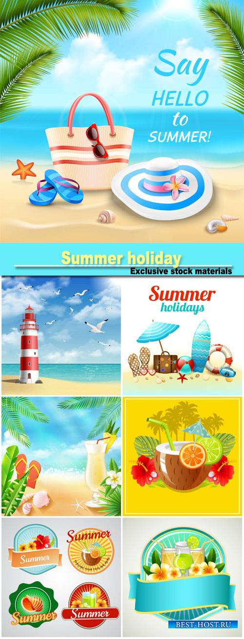 Summer holiday, sea vector backgrounds