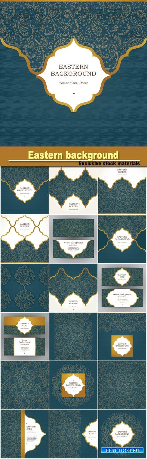 Eastern background, vector patterns
