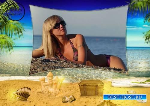 Рамка для фотошопа – Это море, песчаные пляжи