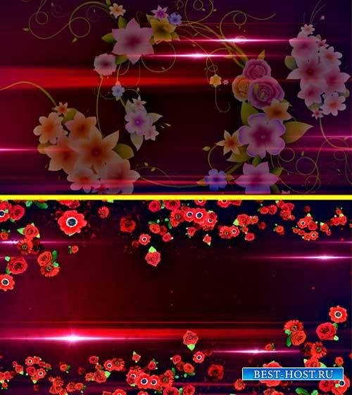 Футажи фоны - Плывут цветы