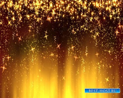 Футажи фоны  - Золотой дождь