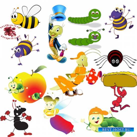 Клипарт – Мультяшные насекомые