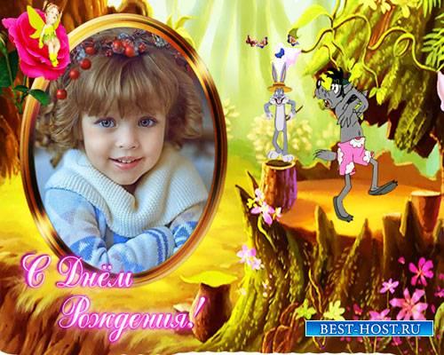 Детские футажи - Поздравление с днем рождения