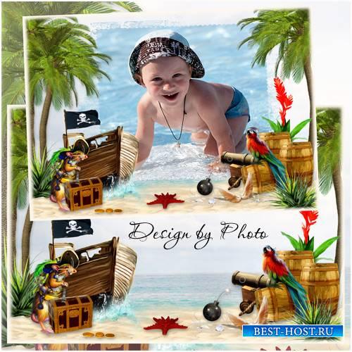 Детская рамка для фото - На острове пиратов