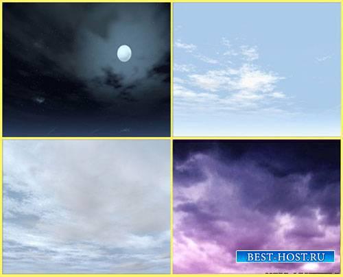 Футаж фона - Природа ночью и днем