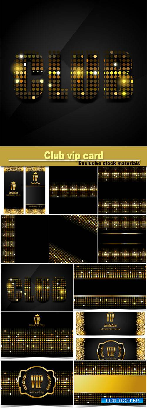 Club vip card, vector background