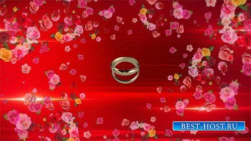 Футаж свадебного фона - Цветочная заставка