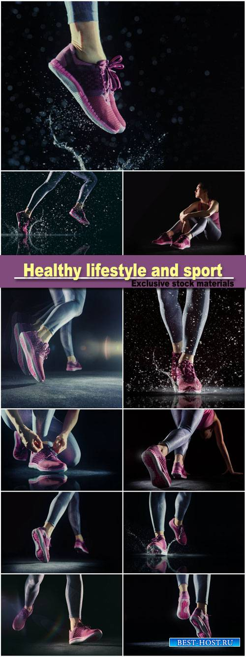 Healthy lifestyle and sport concepts, athlete's foot close-up