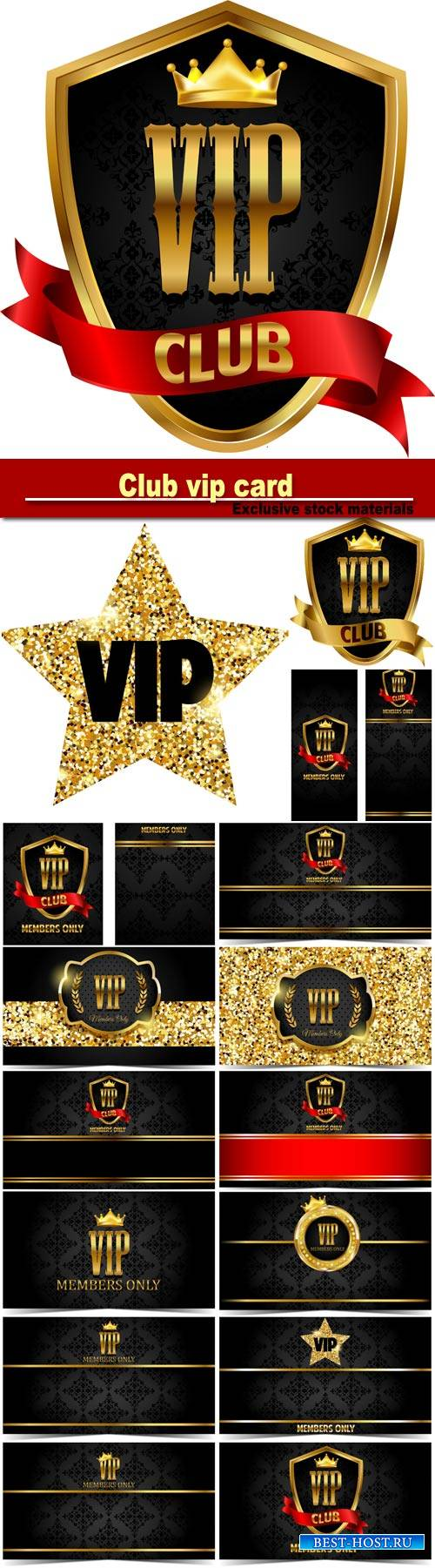 VIP club, vector card