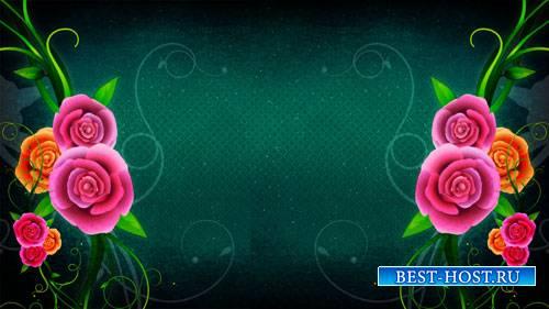 Футаж фона - Распускаются цветы