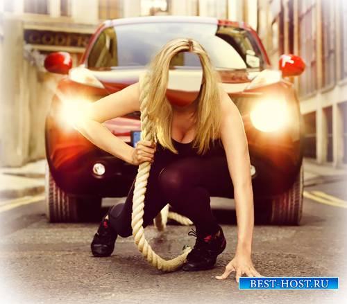 Шаблон для фото - Сильная девушка