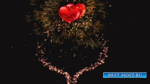 Футажи эффектов - Взлет сердец