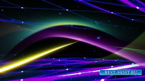Футаж фона - Разноцветные волны