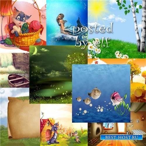 Сказочные детские фоны