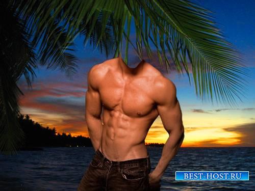Шаблон для фотошопа  - Закат у моря